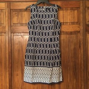 NWT Navy Blue & White Patterned Dress!